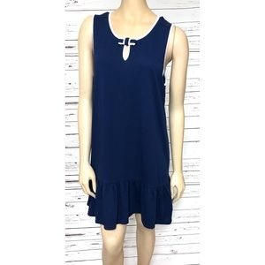 KATE SPADE Dress Navy Blue Sleeveless XL Runs Smal